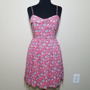 LC Conrad Pink Bird Adjustable Strap Mini Dress 8